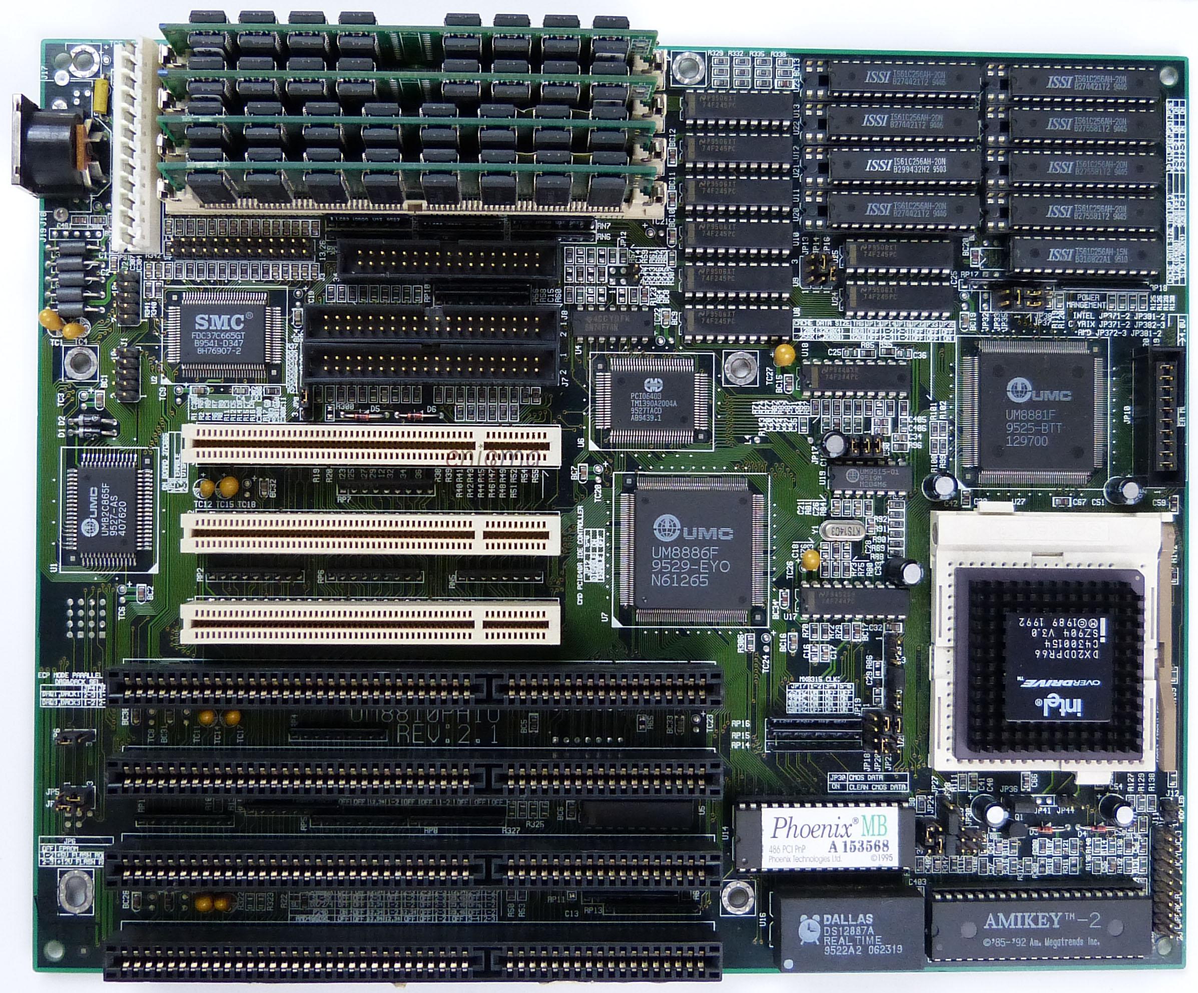 486 mainboard Elitegroup ECS-UM8810PAIO Rev. 2.1